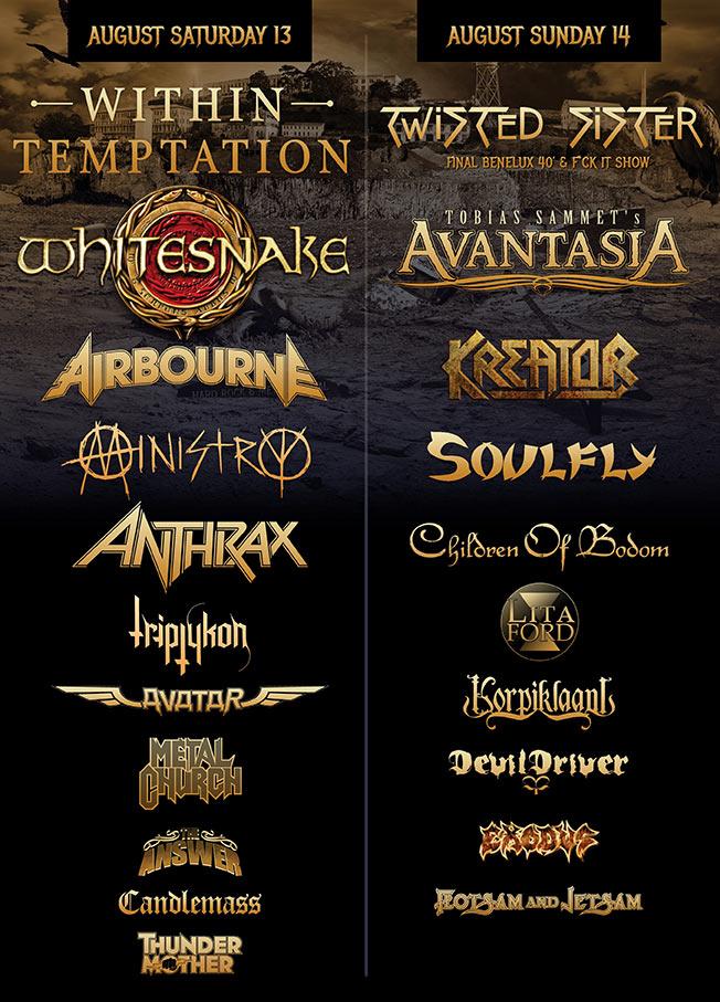 Alcatraz Metal Festival 2016 Geruchten Bevestigingen