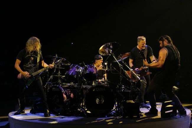 Metallica groeps overzicht in sportpaleis 3 november