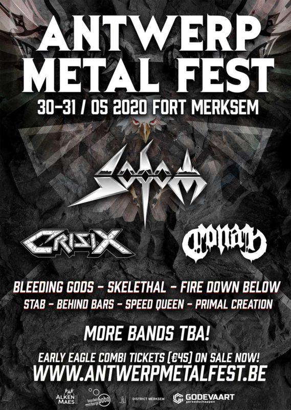 Affiche Antwerp Metal Fest 2020 - Eerste namen