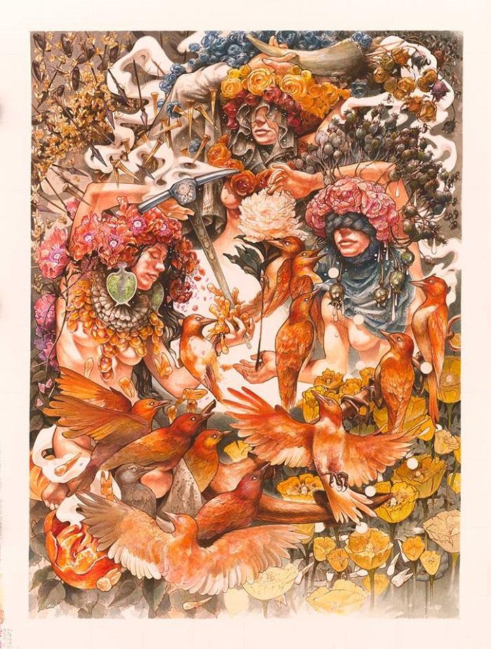 Baroness - Gold & Grey artwork