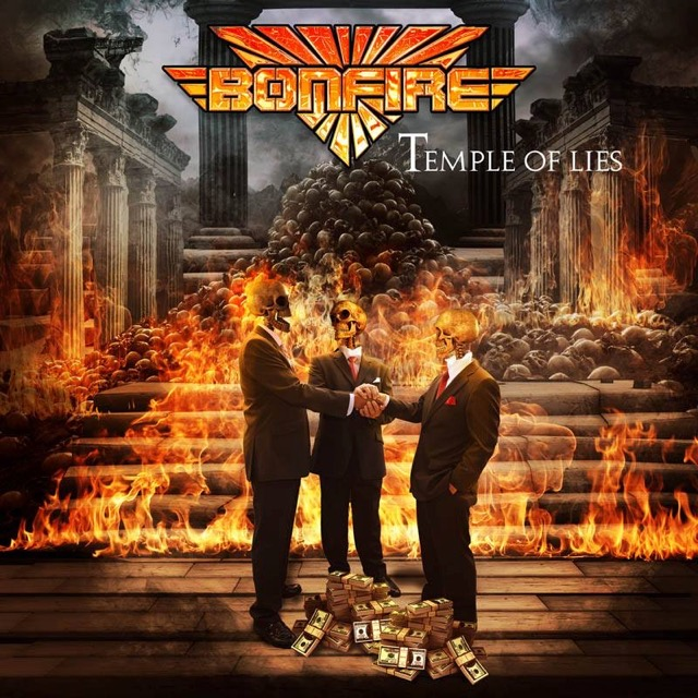 Bonfire - Temple Of Lies album artwork