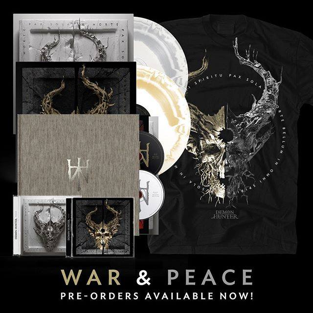Demon Hunter War & Peace covers en merch