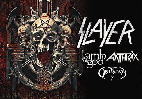 Slayer tour met Lamb Of God, Anthrax en Obituary